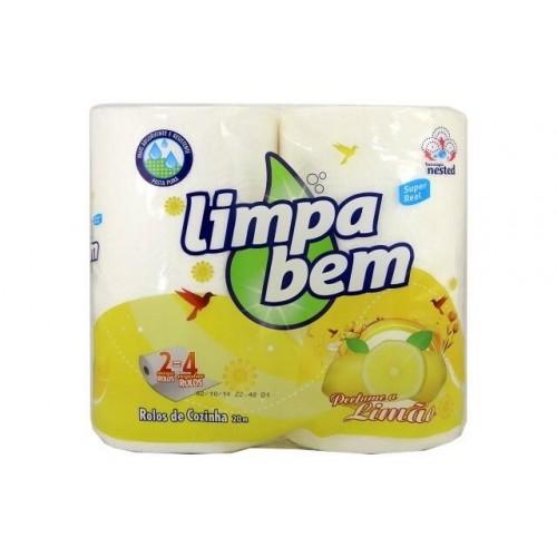 LIMPA BEM 2 ROLOS DE PAPEL COZINHA LIMÃO