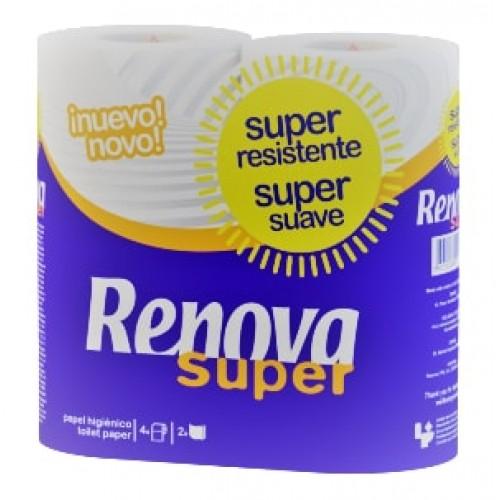 RENOVA 4 ROLOS PAPEL HIGIENICO SUPER