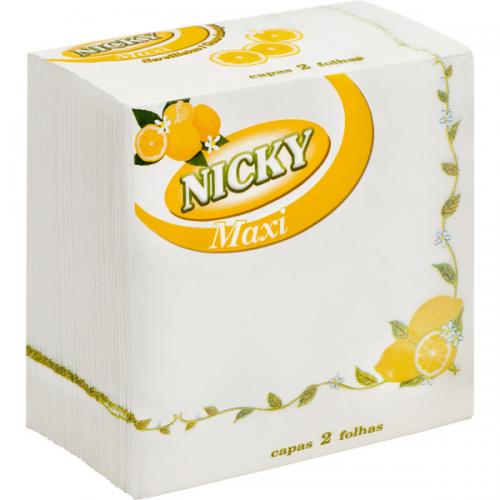 NICKY GUARDANAPO 33*33 65UND 2F MAXI LIMÃO