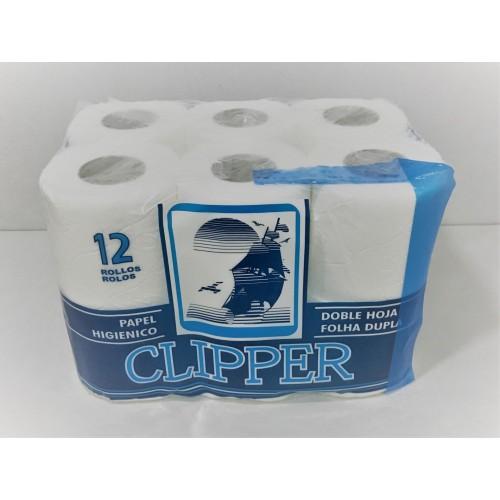 CLIPPER PAPEL HIGIÉNICO 12RLS FOLHA DUPLA