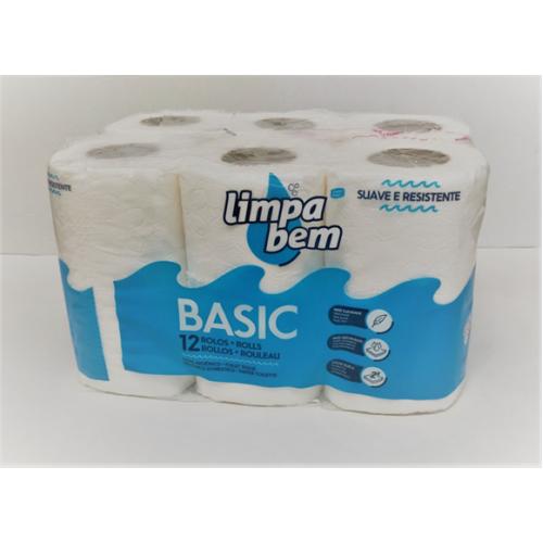 LIMPA BEM BASIC PAPEL HIGIENICO 12RLS