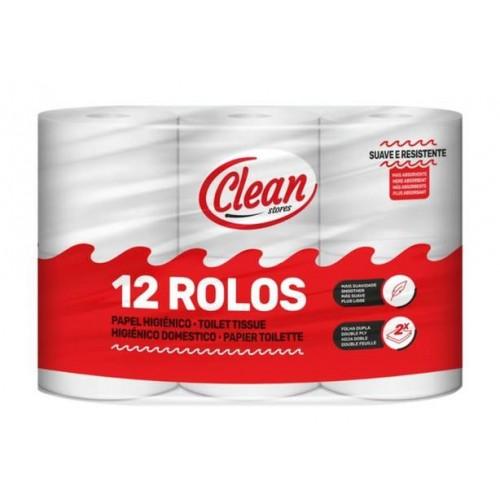 CLEAN PAPEL HIGIENICO 12RLS