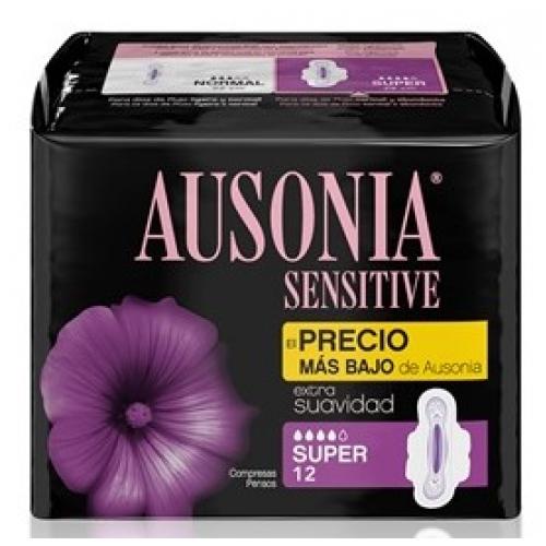 AUSONIA PENSOS HIGIENICOS 12UND SENS SUPER C/ ABAS
