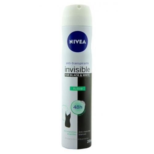NIVEA DEO SPRAY 200ML INVISIBLE BLACK & WHITE ACTIVE
