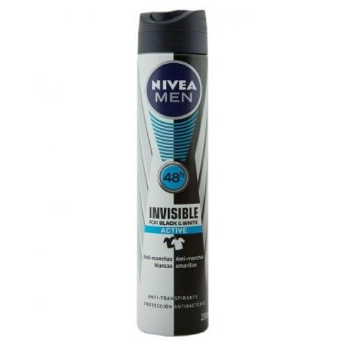 NIVEA DEO SPRAY 200ML BLACK & WHITE INVISIBLE ACTIVE