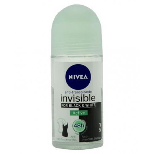 NIVEA ROLL ON 50ML INVISIBLE BLACK & WHITE ACTIVE