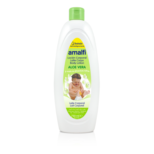 AMALFI LEITE CORPORAL INFANTIL 750ML ALOE VERA