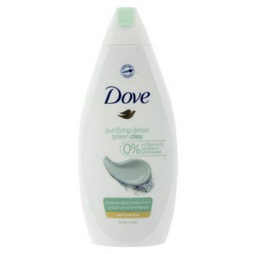 DOVE GEL DE BANHO 500ML PURIFY DETOX GREEN CLAY