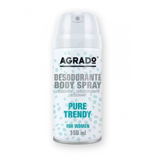 AGRADO BODY SPRAY 150ML PURE TRENDY MULHER