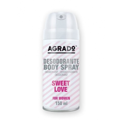 AGRADO BODY SPRAY 150ML  SWEET LOVE MULHER