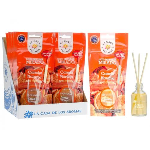 CASA DE AROMAS MIKADO 30ML CANELA / LARANJA
