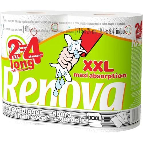 RENOVA 2 ROLOS DE PAPEL COZINHA XXL MAXI ABSORPTION 2=4 ROLOS