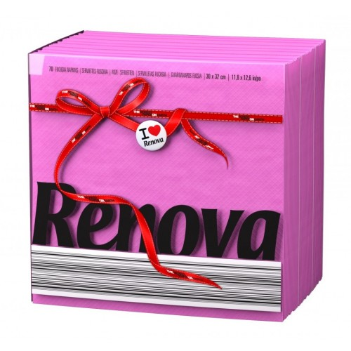 RENOVA GUARDANAPO RED LABEL ROSA 30*32 CM