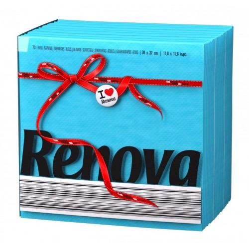 RENOVA GUARDANAPO RED LABEL AZUL 30*32 CM