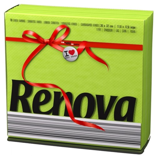 RENOVA GUARDANAPO RED LABEL VERDE 30*32 CM