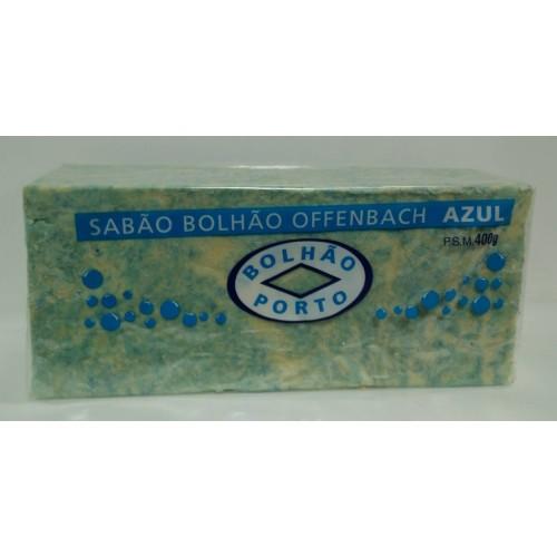BOLHÃO SABÃO EM BARRA 400 G AZUL E BRANCO