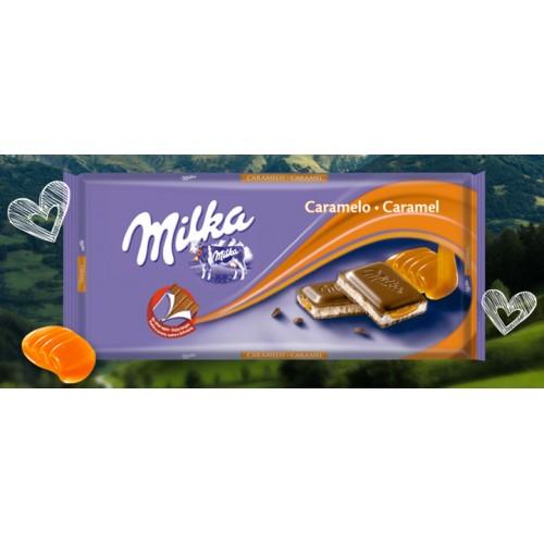 MILKA CHOCOLATE 100 G CARAMELO