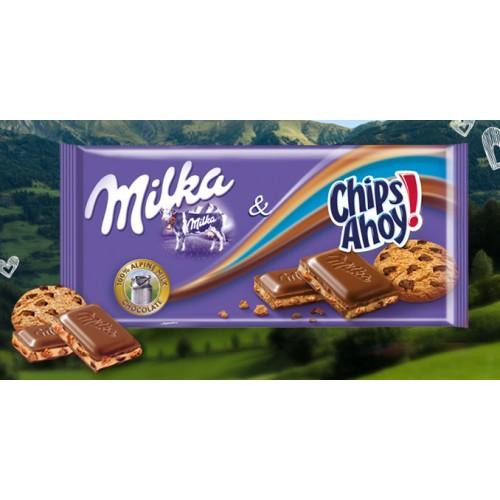 MILKA CHOCOLATE 100 G CHIPS AHOY