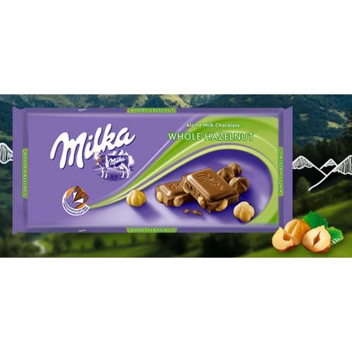 MILKA CHOCOLATE 100 G AVELÃ