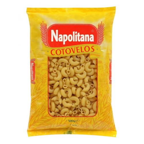 NAPOLITANA MASSA COTOVELOS 500GR